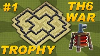 BEST Town Hall 6 (TH6) Defense Trophy/War Base Design -Air Sweeper -Clash of Clans (CoC) Setup #1