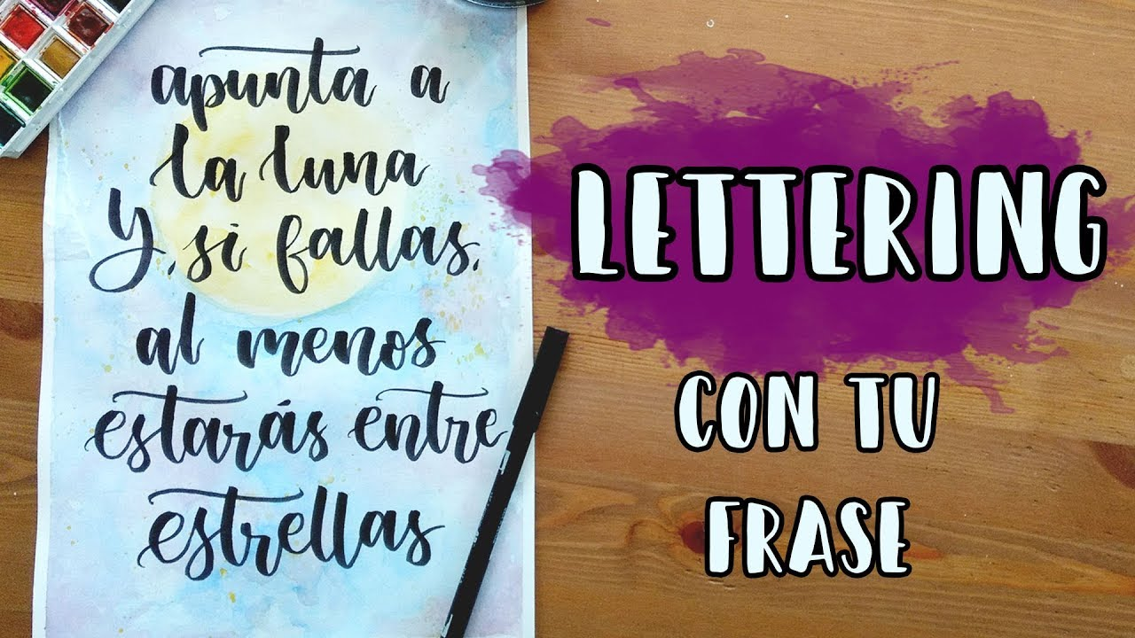 Not For Sale >> Lettering con frases/ Bush caligraphy - YouTube