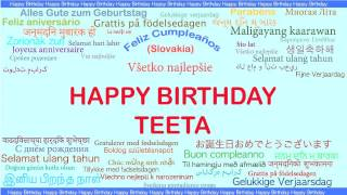 Teeta   Languages Idiomas - Happy Birthday