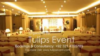 Red Theme Wedding Reception Stage Decoration, Best Wedding Planner In Lahore Pakistan.