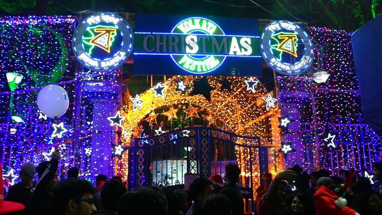 Park Street Kolkata During Christmas.Allen Park Christmas Celebrations Kolkata