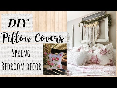 DIY PILLOW COVERS // SPRING BEDROOM DECOR