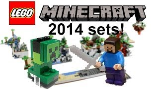 LEGO Minecraft minifigure-scale 2014 sets list revealed!