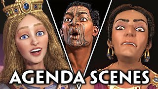 Civilization 6: Gathering Storm - All NEW Leaders Agenda Reactions