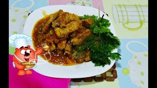 Гуляш из свинины с подливкой на обед-классический рецепт