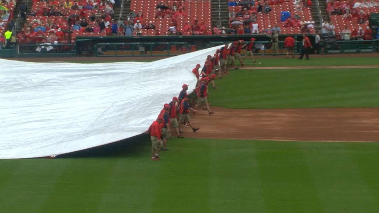 Brewers, Cardinals game postponed due to bad weather