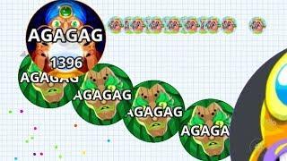 Agar.io Macro Feed Pro Team Take Over Moments Compilation Agario Mobile Gameplay