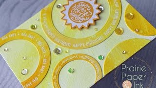 SSS Bring the Sunshine | Birthday Card | Mission Gold Watercolors
