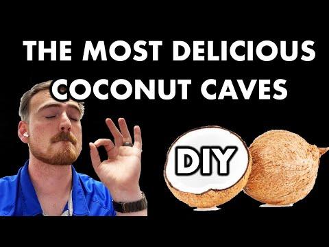 *DIY* Most DELICIOUS COCONUT CAVES EVER (for Plecos Or Apistogramma)