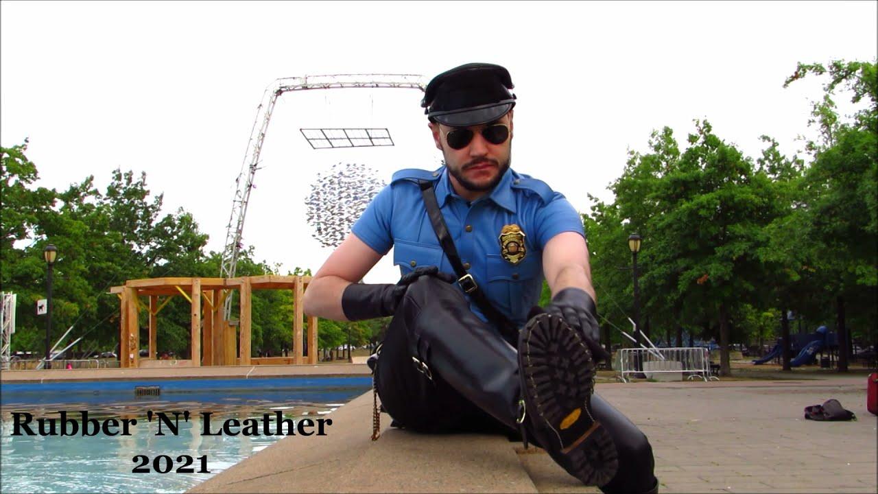 Black and Blue Leather Uniform V