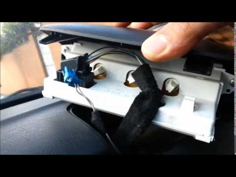 peugeot 307 display panel lights - youtube