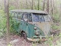 114 Abandoned 1960s Volkswagen Bus And Other Vehicles In Woods mp3