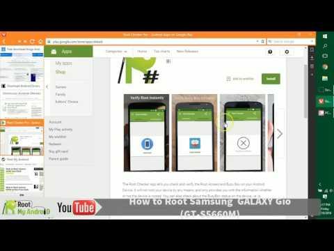 Root Samsung Galaxy Gio gt s5660m One Click Kingo App