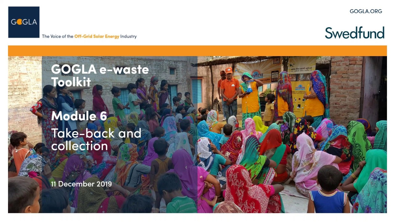 E-waste Toolkit Module 6: Take-back and Collection