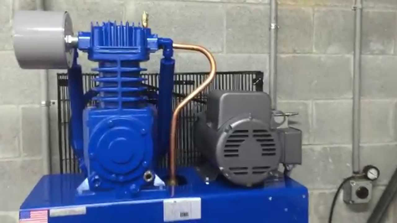 quincy qt 5 80 gallon 5 hp two stage air compressor youtube rh youtube com Quincy Air Compressors Parts List Capacitors for Compressor Wiring Diagram