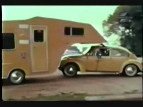 vw beetle towing   wheel trailer youtube