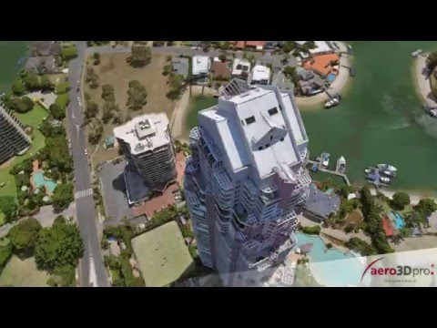 Gold Coast 3D city model - Part2 - aero3Dpro