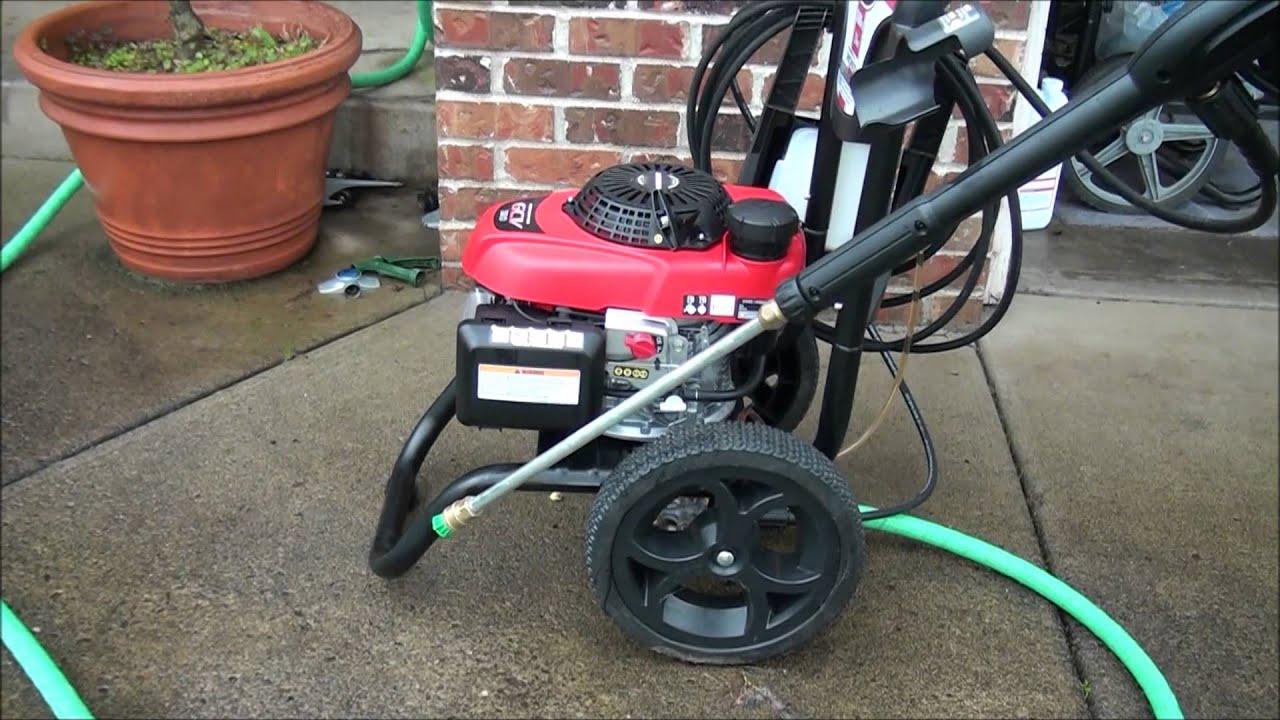 A Newer Honda Pressure Washer That Won't Start After