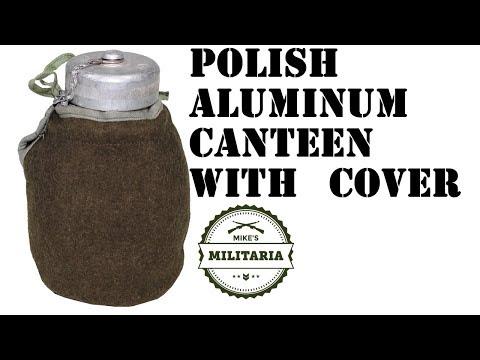 Mike's Militaria Product- Polish Aluminum Canteen W/ Cover