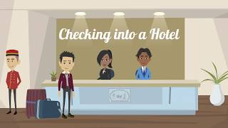 Checking into a Hotel | Fluent English | English Conversation | Common Daily Expressions