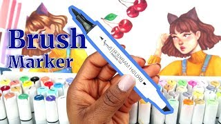THE BEST CHEAPEST BRUSH MARKERS EVER! | Bianyo brush markers Affordable Markers