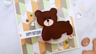 Cute Birthday Card For Kids Ft. Quilt It by Lene Lok & Bear Scout by Debi Adams