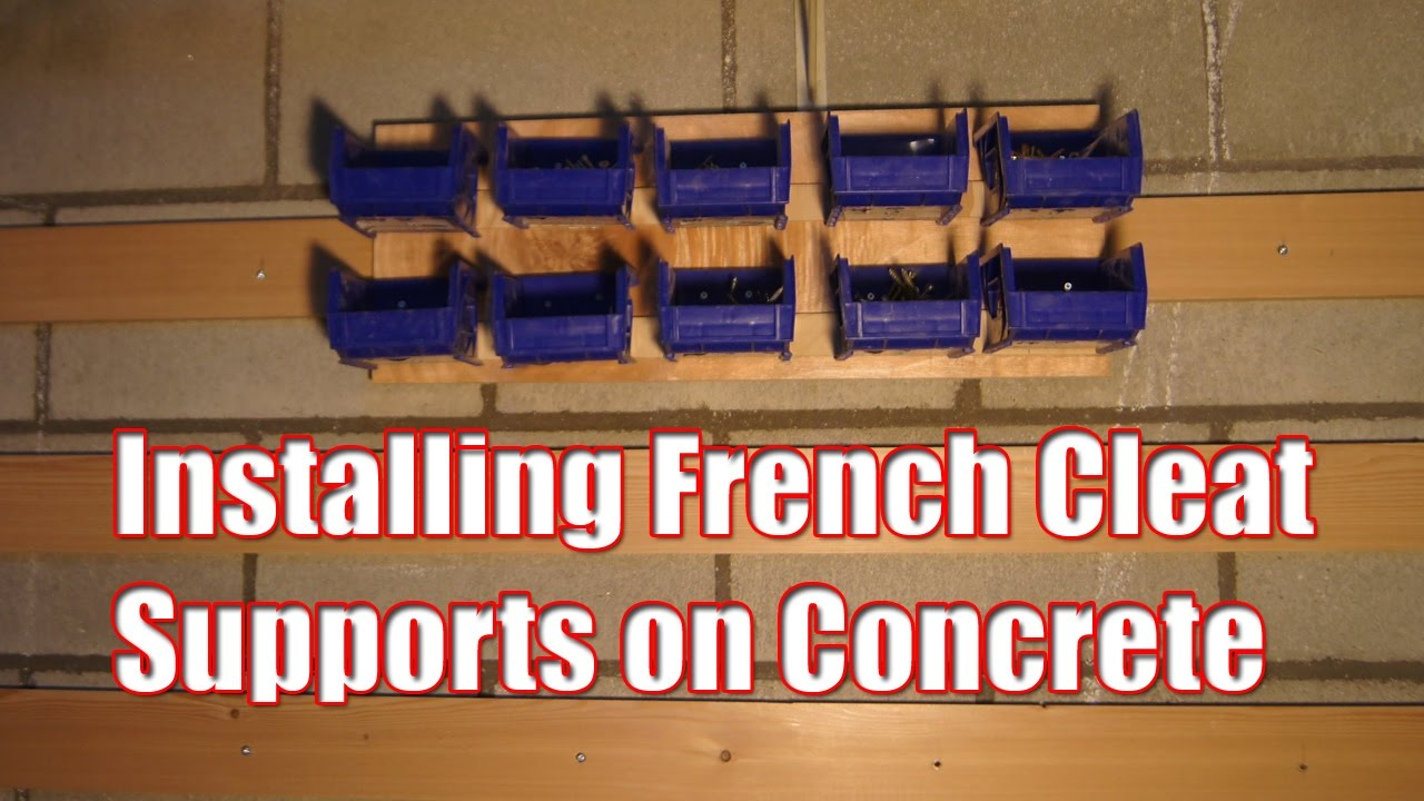 Installing French Cleat Supports on