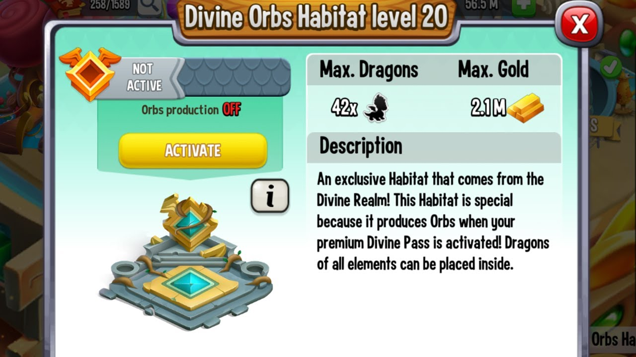 Download I Get new one DIVINE Orbs Habitat in Dragon City for FREE 2021! 😍