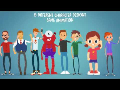 Rigmo - Rigged Character Animation Mockup | After Effects template | envato  videohive elements