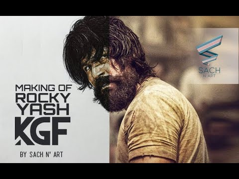 Making of ROCKY YASH in K.G.F. by Sach N' Art | KGF | Hombale Films