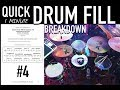 Quick Drum Fill Breakdown #4 - Advanced Drum Lesson by Nick Bukey