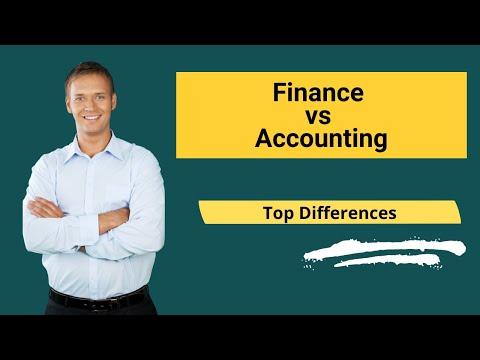 Finance vs Accounting