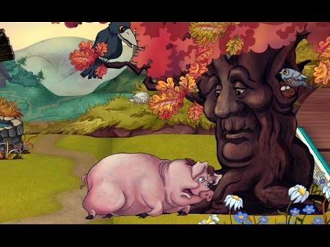 Крылов басни свинья под дубом мультфильм