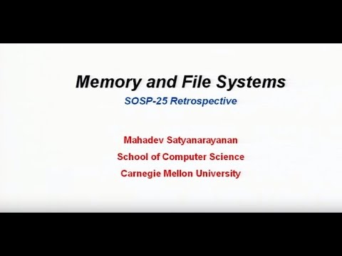 Evolution of file and memory management