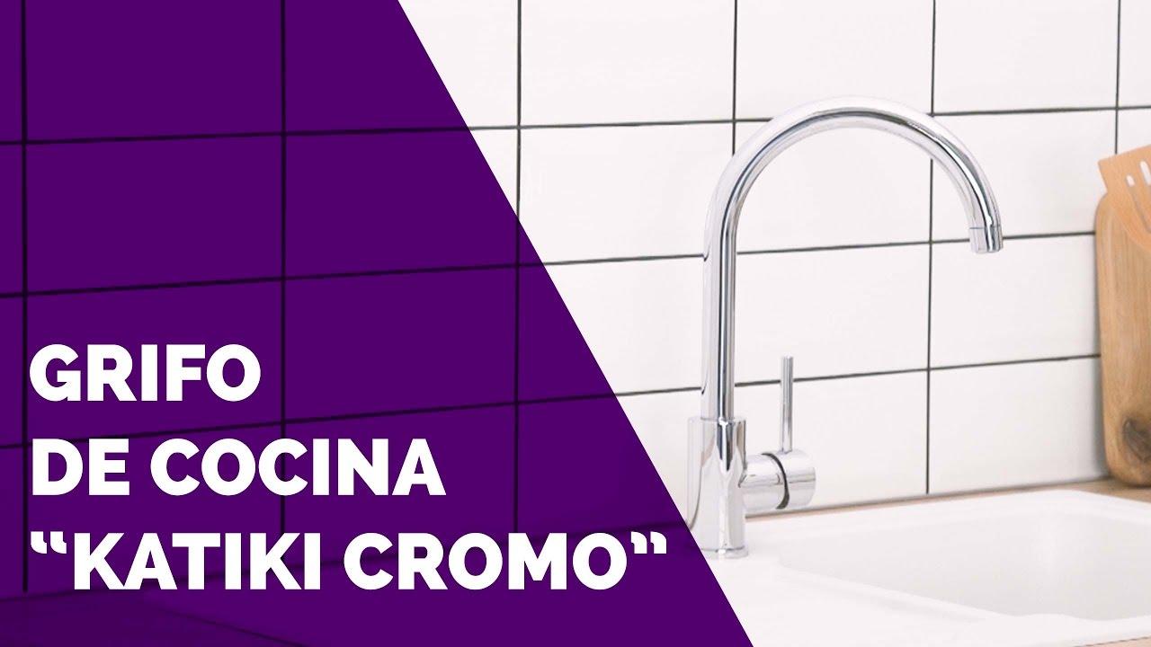 Grifo de cocina katiki cromo brico depot youtube for Grifo banera bricodepot