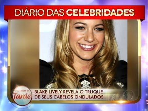 Blake Lively Revela Segredos De Seus Cabelos Ondulados