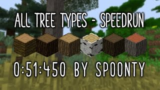 All tree types - Minecraft 0:51.450 WR (Speedrun - Set Seed)