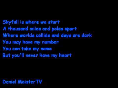 Adele   Skyfall Lyrics James Bond 007 Theme Song   YouTube