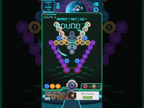 Poppy Ball 1357 - Secret of distant galaxies (Android/iOS) Gameplay