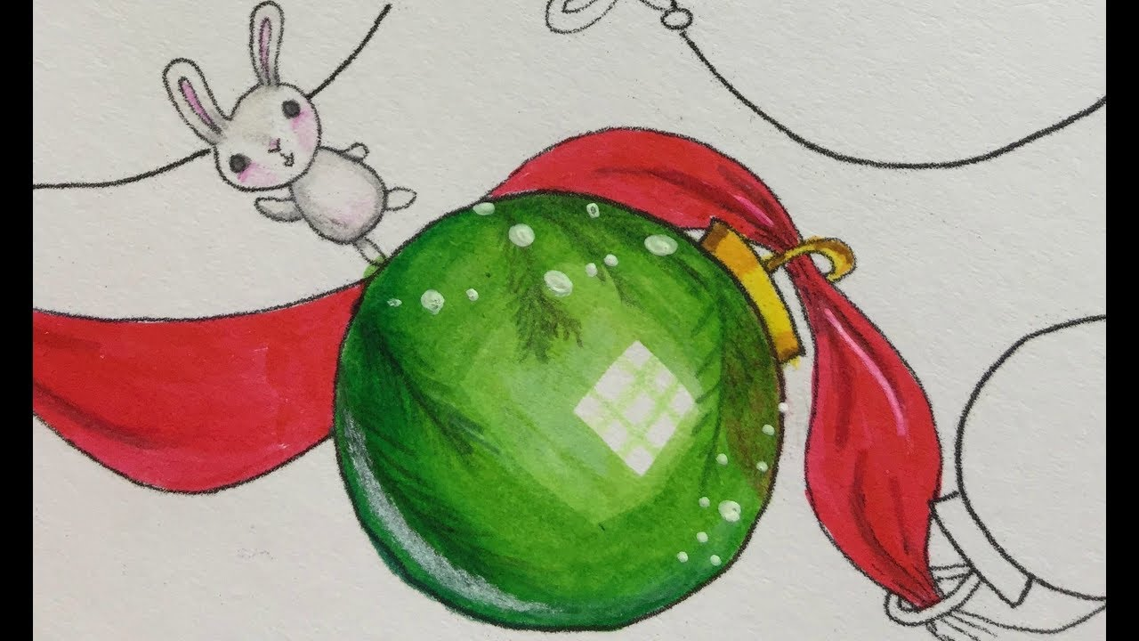 - How To Color A Christmas Ornament Using Markers And Colored