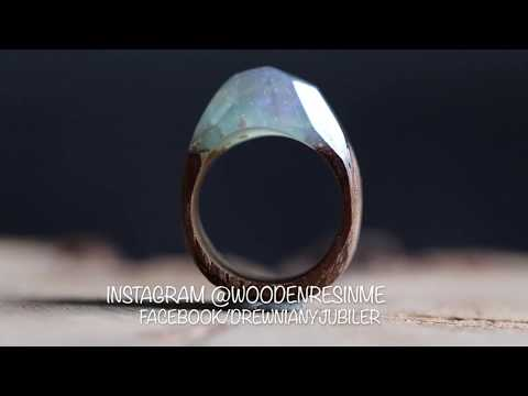 Merbau Wood & Resin ring