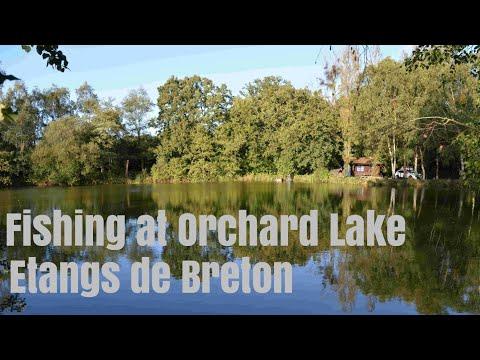 Fishing At Orchard Lake. Etangs De Breton.