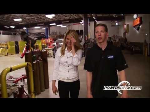 Brad Keselowski tours PowerBlockTV Tech Center