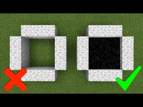 How To Make A Portal To The Moon Dimension In Minecraft PE