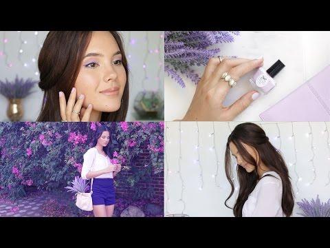 lavender-spring-look:-makeup,-hair-&-outfit!-|-cat'elle