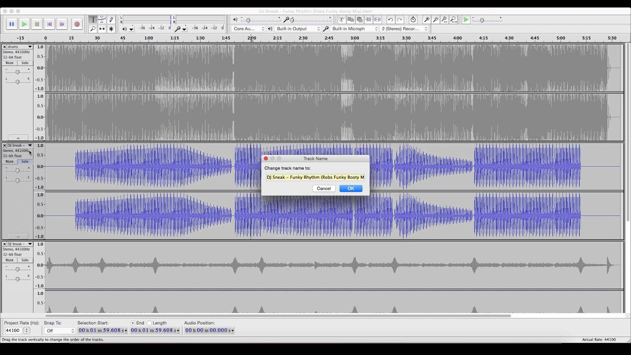 How To Export Traktor  stem mp4 Tracks With Audacity