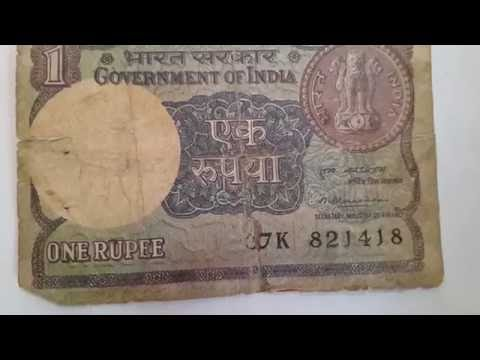 One rupees notes signed by MONTEK SINGH AHLUWALIA  AND OTHERS