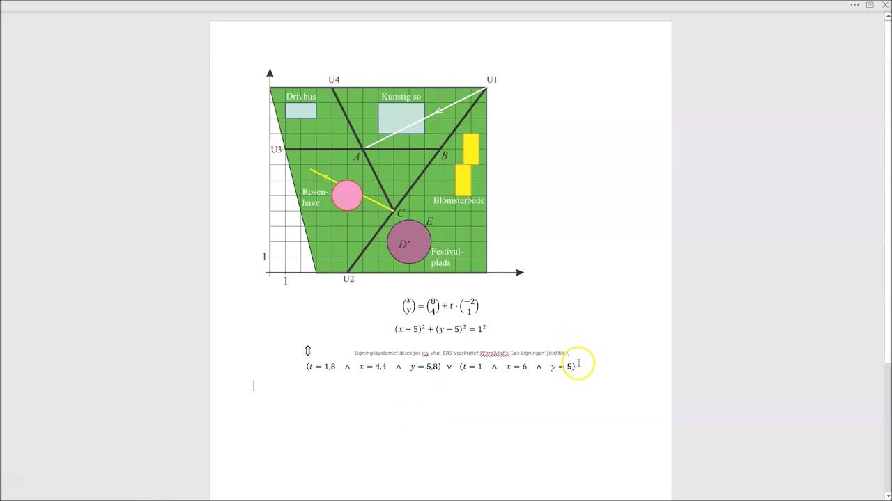 Parameterfremstillinger og ligningsløsning med CAS værktøj