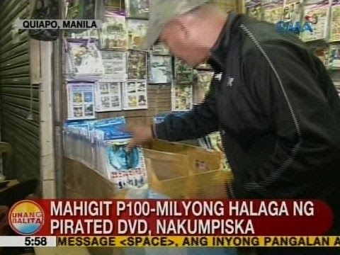 UB: Mahigit P100-M halaga ng pirated DVD, nakumpiska sa Quiapo, Manila
