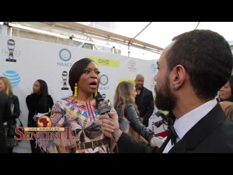 Tina Lifford speaks at the 48th annual NAACP  Awards